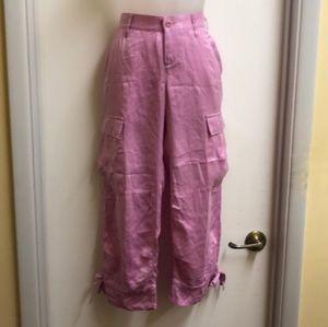 Joie Silk Pink Cargo Pants